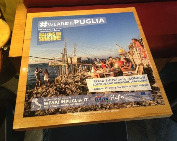 Puglia Tourism Tablewrap Advertising