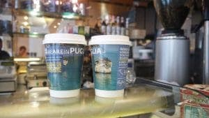 Puglia Tourism Coffee Cup Advertising