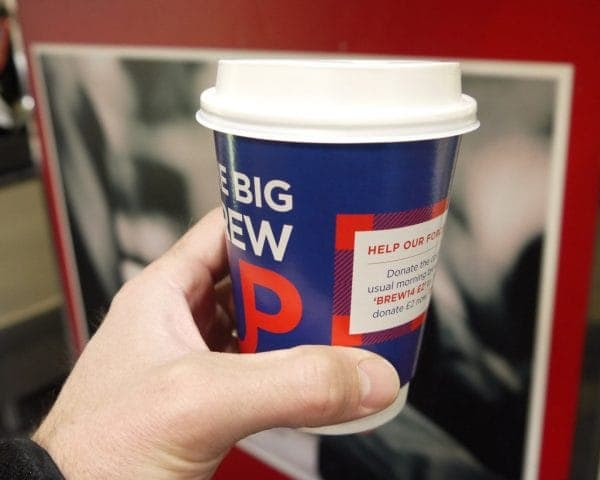 SSAFA Coffee Cup Advertising