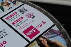 Shop Direct Very Tablewrap Advertising NFC Contactless