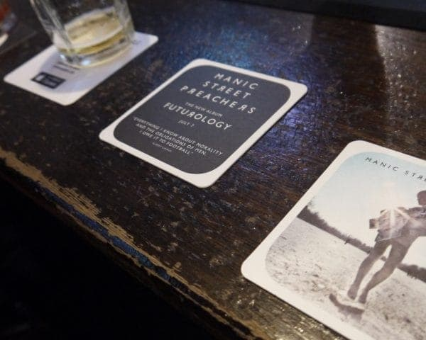 Sony Music - Manic Street Preachers, The Klaxons & Example Beer Mat Advertising