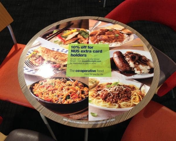 The Co-operative Food Tablewrap Advertising