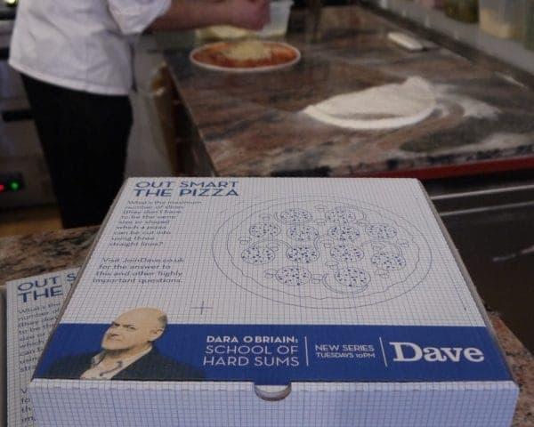 UKTV-Dave Takeaway Pizza Box Advertising