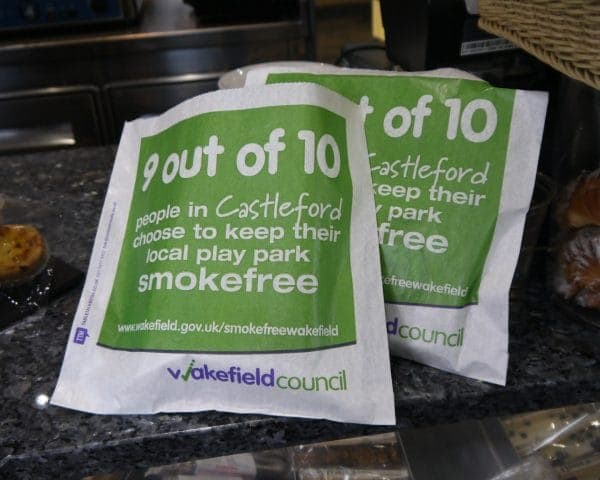 Wakefield Council Sandwich Bag Advertising