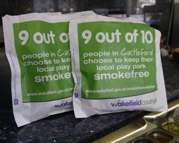 Wakfield Council Sandwich Bag Advertising