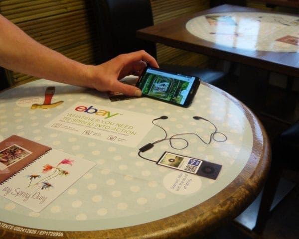 eBay NFC Tablewrap Advertising