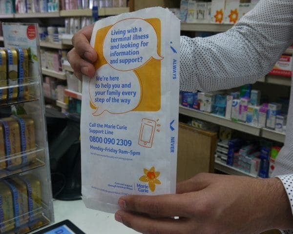 Marie Cuire Pharmacy Bag Advertising