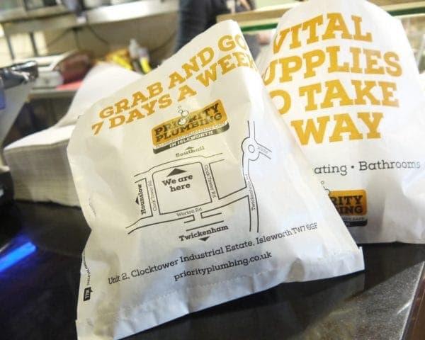 Priority Sandwich Bag Advertising