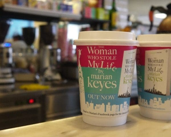 Penguin Random House Coffee Cup Advertising