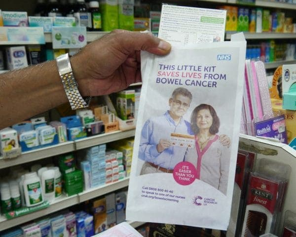 CRUK Pharmacy Bag Advertising