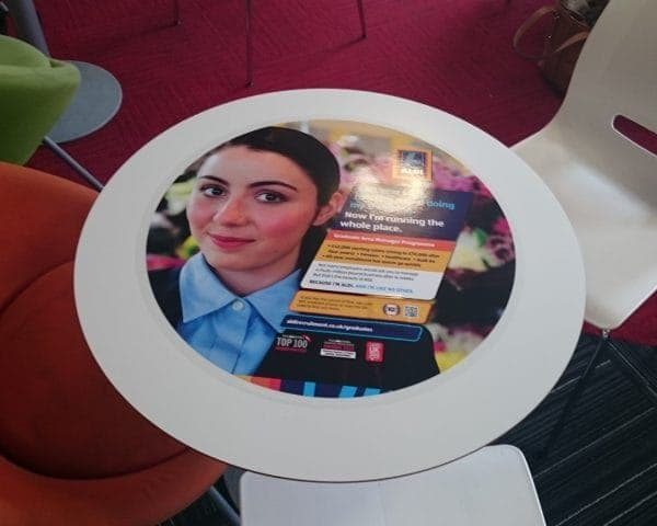 Aldi University Tablewrap