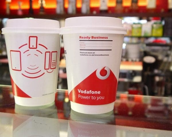 Vodafone Coffee Cup Advertising for One Net