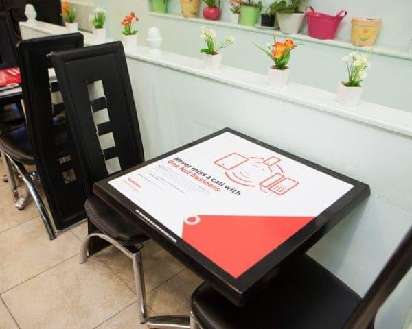 Vodafone Tablewrap Advertising for One Net