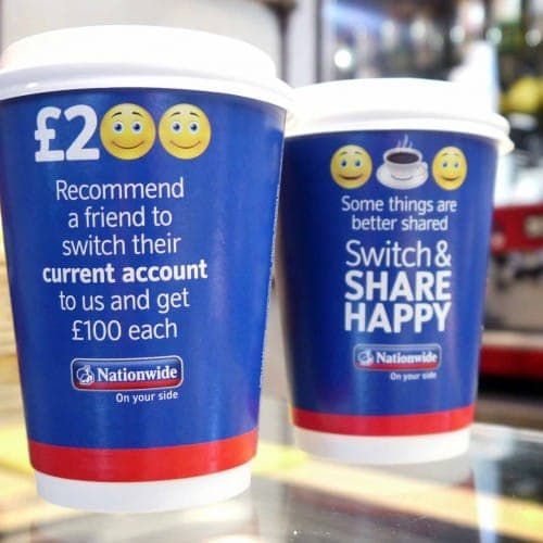 nationwide bank advertising campaign coffee cups