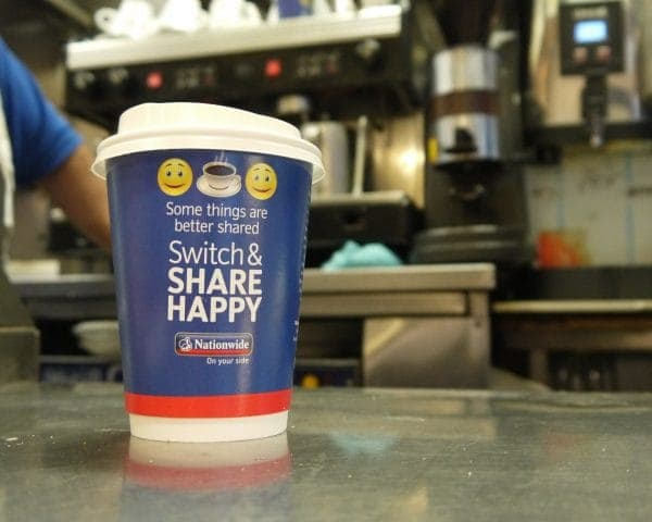 Nationwide Coffee Cup Advertising