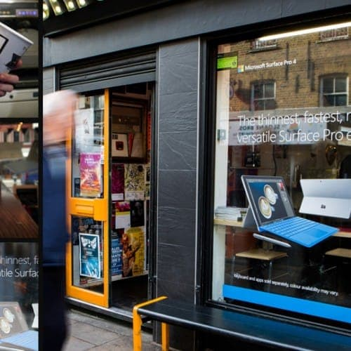 microsoft surface coffee shop campaign advertising surface pro 4