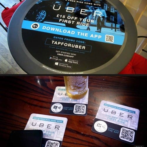 Uber NFC Tablewraps and Beer Mats