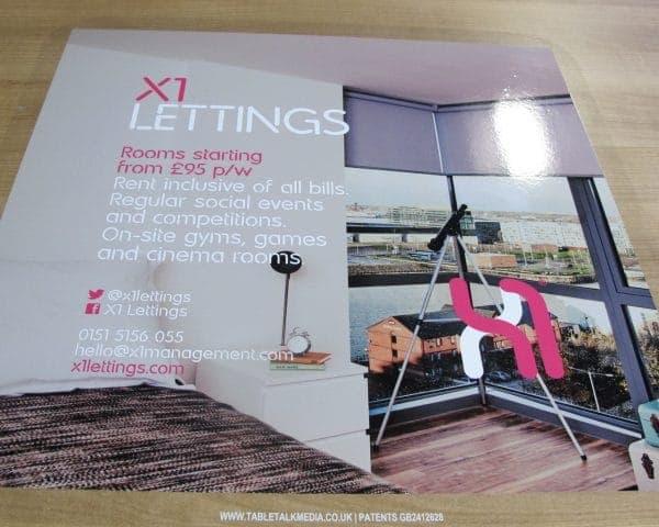 X1 Lettings University Tablewrap Adverts