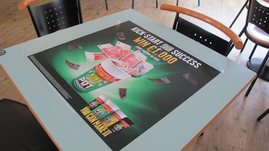 Pot Noodle Student Union Tablewraps
