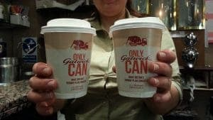 Gatwick Airport Coffee Cup Branding