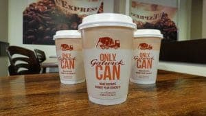 Gatwick Airport Coffee Cup Advertising