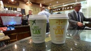 Gatwick Coffee Cup Advertising