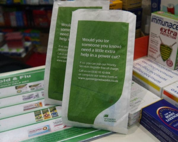 priority services pharmacy bags