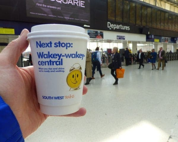 South West Trains Spring Coffee Cup Branding