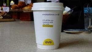 Eve Coffee Cup Advertising