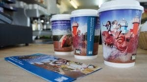 Historic Royal Palaces Coffee Cups & Point of Sale Material