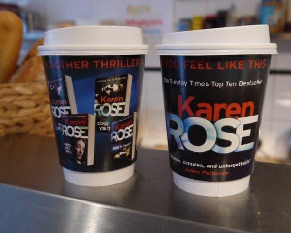 Headline Publishing Karen Rose Coffee Cup Advertising