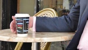 Penguin Random House Charles Duhigg Coffee Cup Advertising