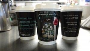 Harper Collins Susie Steiner Coffee Cup Adverts