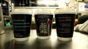 Harper Collins Susie Steiner Coffee Cup Adverts