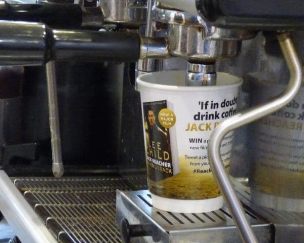 Jack Reacher Coffee Cup Adverts