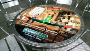 Powwownow Coffee Shop Tablewrap Advertising