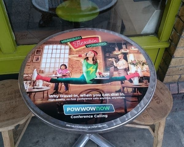 Powwownow Coffee Shop Tablewraps