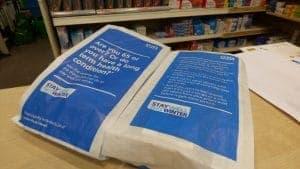 PHE Pharmacy Bag Adverts