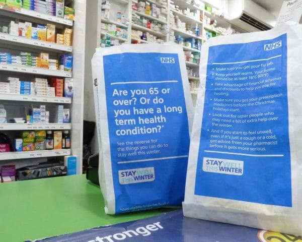 PHE Pharmacy Bag Adverts