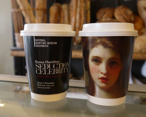 National Maritime Museum Greenwich Coffee Cup Adverts