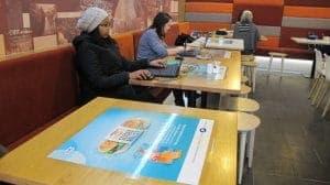 Tepe University Tablewrap Advertising