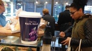 C2C Rail Coffee Cup Adverts