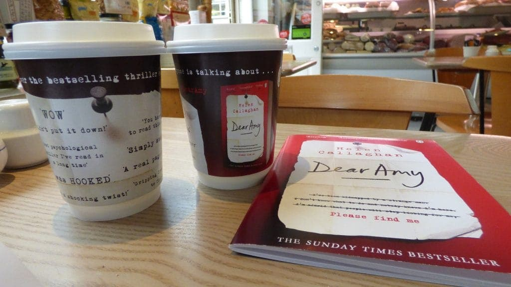 Penguin Random House Dear Amy Coffee Cup Adverts