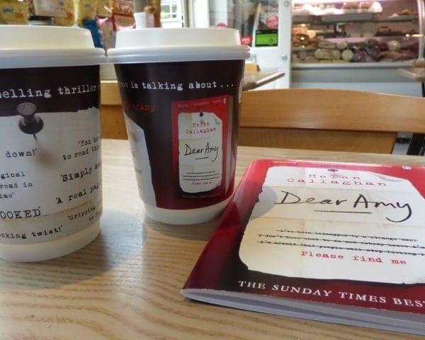 Penguin Random House Dear Amy Coffee Cup Adverts