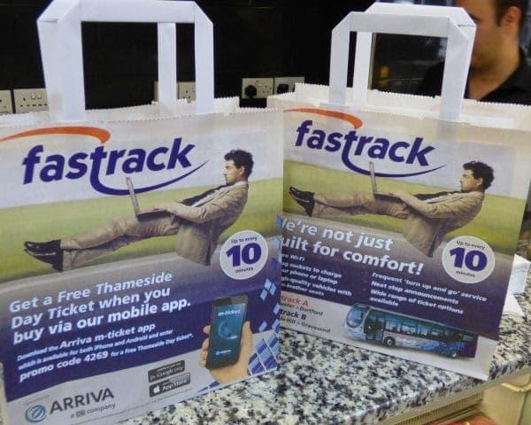 Arriva Deli Bags Adverts