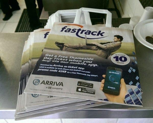 Arriva Deli Bag Adverts