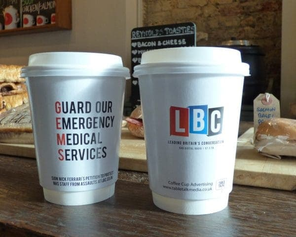 LBC GEMS Takeaway Coffee Cup Adverts