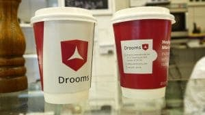Drooms Takeaway Coffee Cup Advertising in London