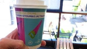 Nominet Coffee Cup Advertising
