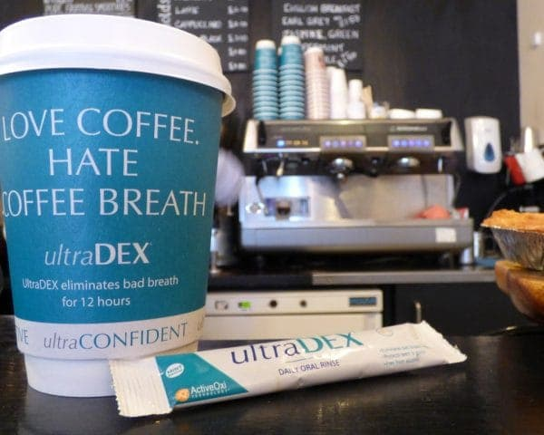 UltraDEX Coffee Cup Advertising & Product Sampling